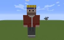 Todd Chavez Pixel Art Statue