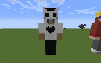 Zacharie Pixel Art Statue
