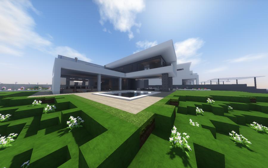 Contemporary Hillside House, creation #12628