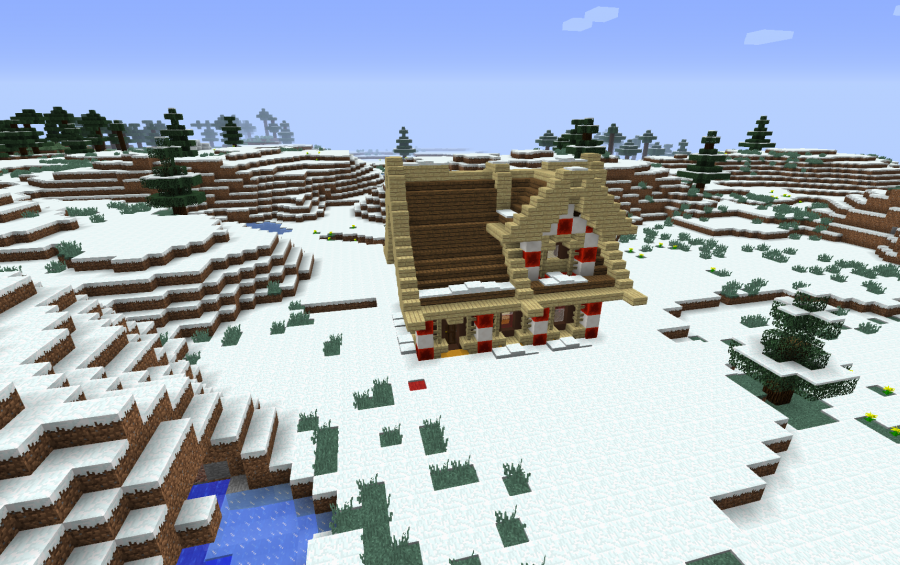 Minecraft Christmas Houses.Christmas House For Addexio Creation 12791