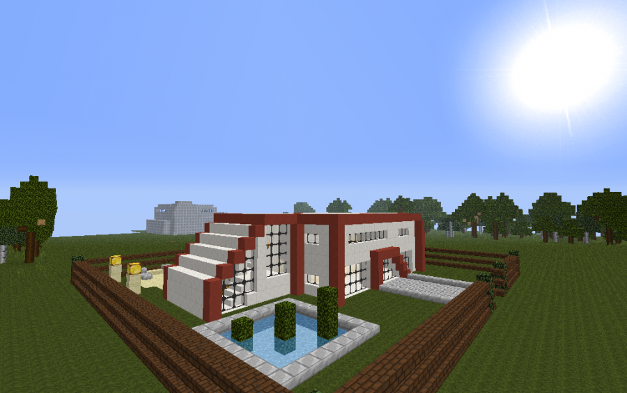 awesome modern house minecraft excellent awesome modern house map simple modern house in minecraft pe