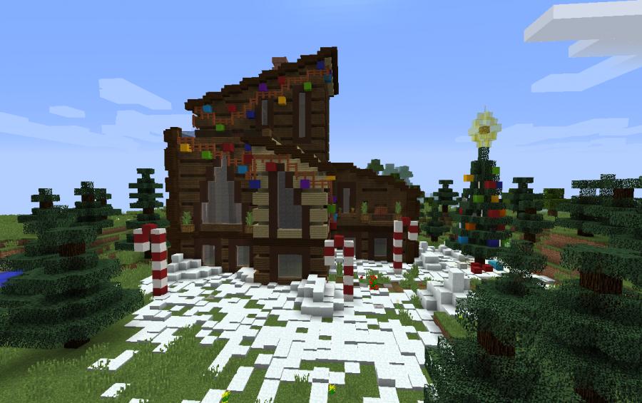 Minecraft Christmas.Christmas House Creation 12827