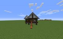 rustikk-vinter hus