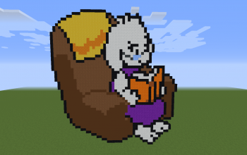 Toriel in Chair Pixel Art