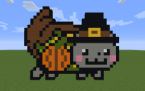 Thanksgiving Nyan Cat Pixel Art