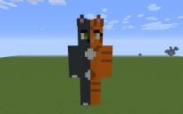 Rika OC Pixel Art Statue
