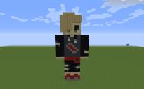 Gladion Pixel Art Statue