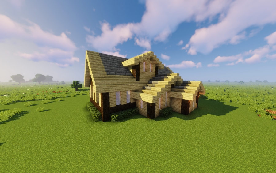 Traditional Birch House Creation 13117