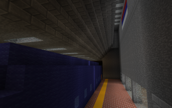 Metro Station + Blue Train