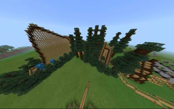 Wooden roller coaster