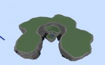 large floating island - blank