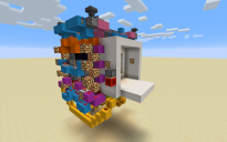 Two sided 6x6 piston door