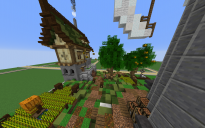 Mittelalter Häuser mit natur