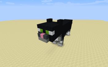 Black cat statue