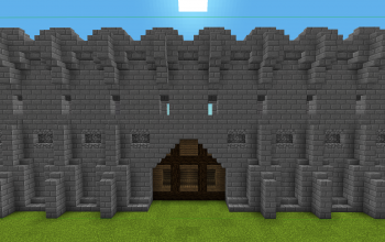 Basic Castle Wall Door.