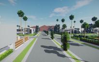 modern los angeles neighborhood