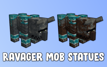 Ravager Mob Statues