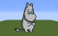Moomintroll Pixel Art