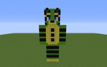 Cory OC Pixel Art Statue