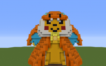 Pikachu in Charizard costume
