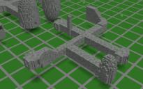 Modular Dungeon Hallway Schematics and World Map