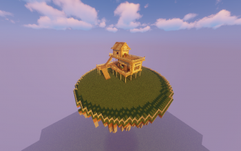 island with house