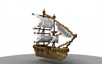 Boat medieval 45°