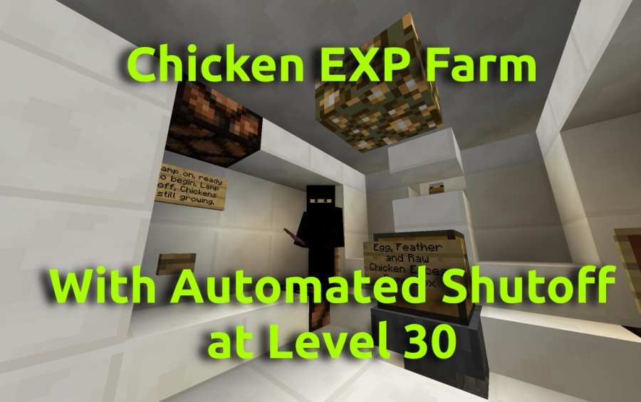 8 Automatic Farms Redstone Minecraft Pe Maps. Minecraft Automatic Cooked Chicken  Farm ...