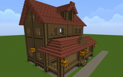 Farm house for 1 6 0 creation 1443 for Window design minecraft