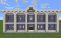 Light blue-white classical house