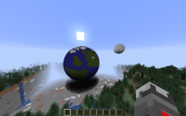 Earth with moon 3D