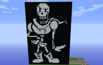 Papyrus art Battle Undertale Minecraft