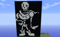 Papyrus art Battle Undertale Minecraft