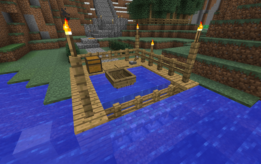 Boat Dock, creation #1476 on small boats mod minecraft, small minecraft village, small minecraft ship plans, small minecraft yacht tutorial,