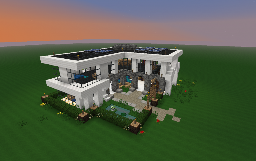 Minecraft Pe Modern Redstone House Map Download - Catet r