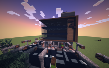 large 4 story mall with roads
