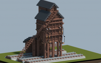 Railroad coaling tower