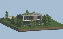 Realistic small Modern house