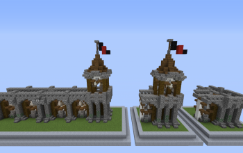 Modulable Medieval rustic city wall design