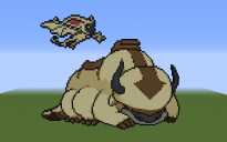 Appa and Momo Pixel Art