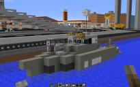 Coast Guard Ship with Machine Gun