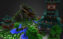 Asian temple with dragon