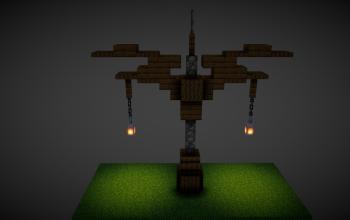 Medieval street lamp
