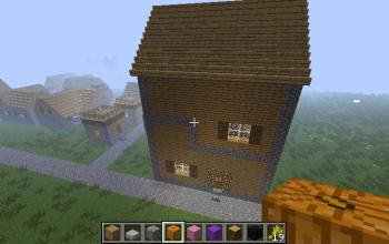 A modern house.