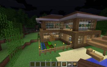 Dark wood house