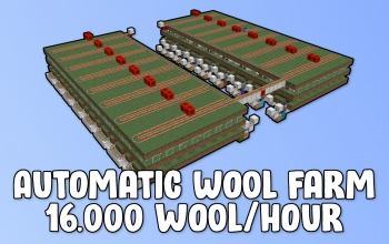 Automatic Wool Farm (16,000 wool/hour)