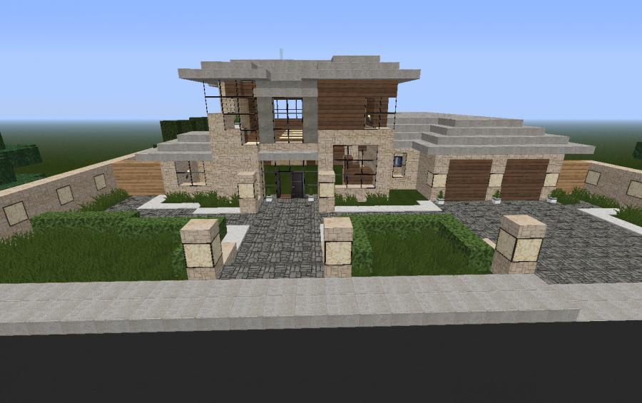 Minecraft Modern House Garage 1