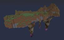 HUGE Floating Island w/ cave