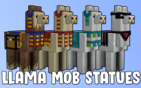 Llama Mob Statues and Assets (144 Possible Combinations)