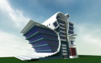 Modern Futuristic Shop